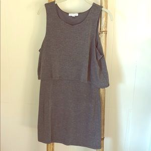 Gray overlay dress